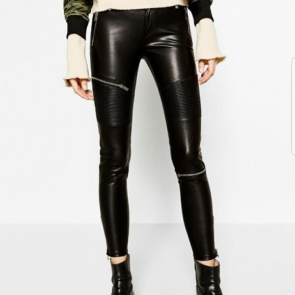 9f4ded48 Zara faux leather trousers